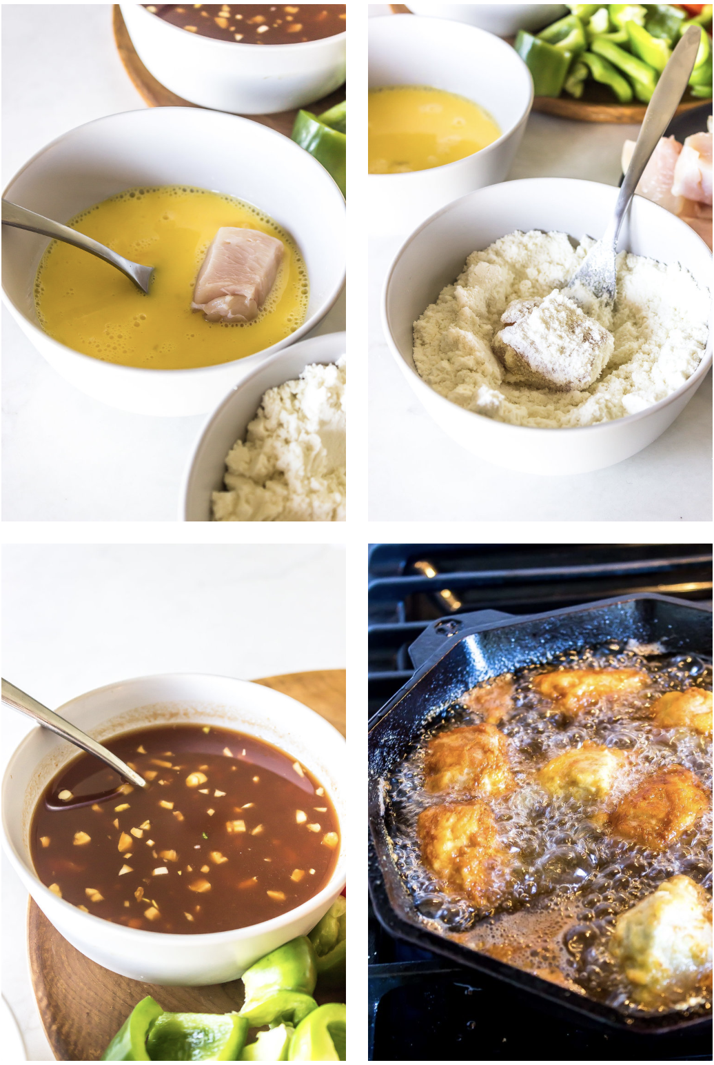 Keto Sweet and Sour Chicken Collage.png