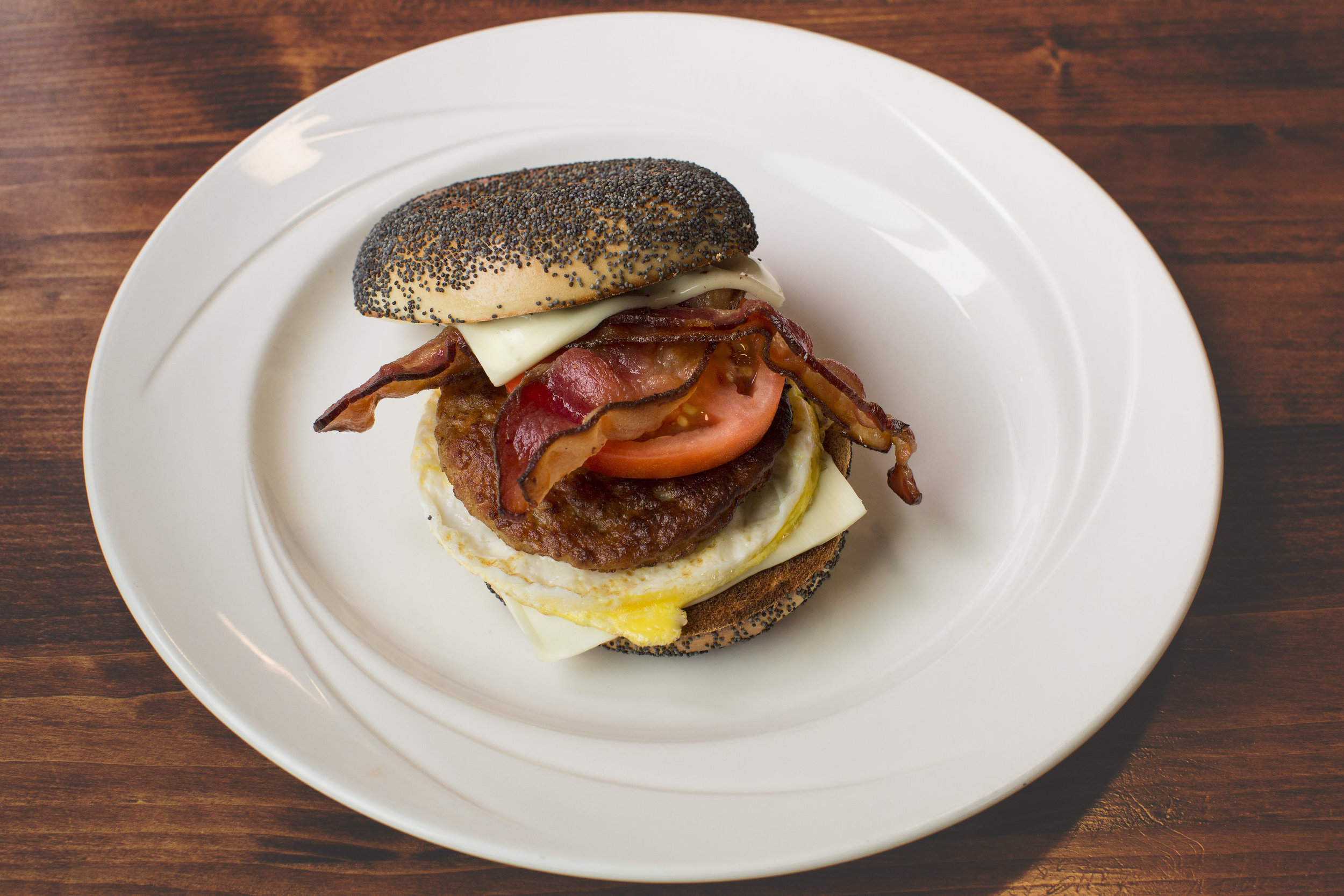 Bacon and Avocado Breakfast Sandwich