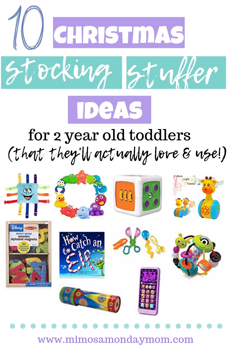 10 stocking stuffer ideas for 2 year old toddlers that they'll actually love & use