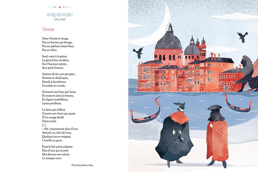 Venise. Les plus belles poésies francaises. catherine cordasco