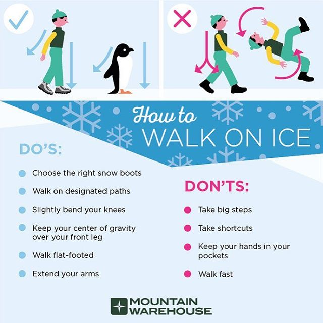 Worried about walking on ice? Think like a penguin! 🐧 Follow these tips to stay safe during this winter season. ❄️ #feldmanpt #feldmanphysicaltherapy #winter #snow #walkingonice #tips #safety1st