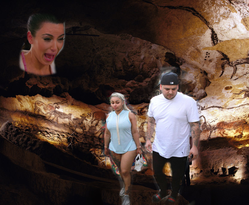 Who  doesn't  want to see the Kardashians photoshopped into a 25,000 Paleolithic cave in France with possibly the world's oldest art work? No one, that's who.