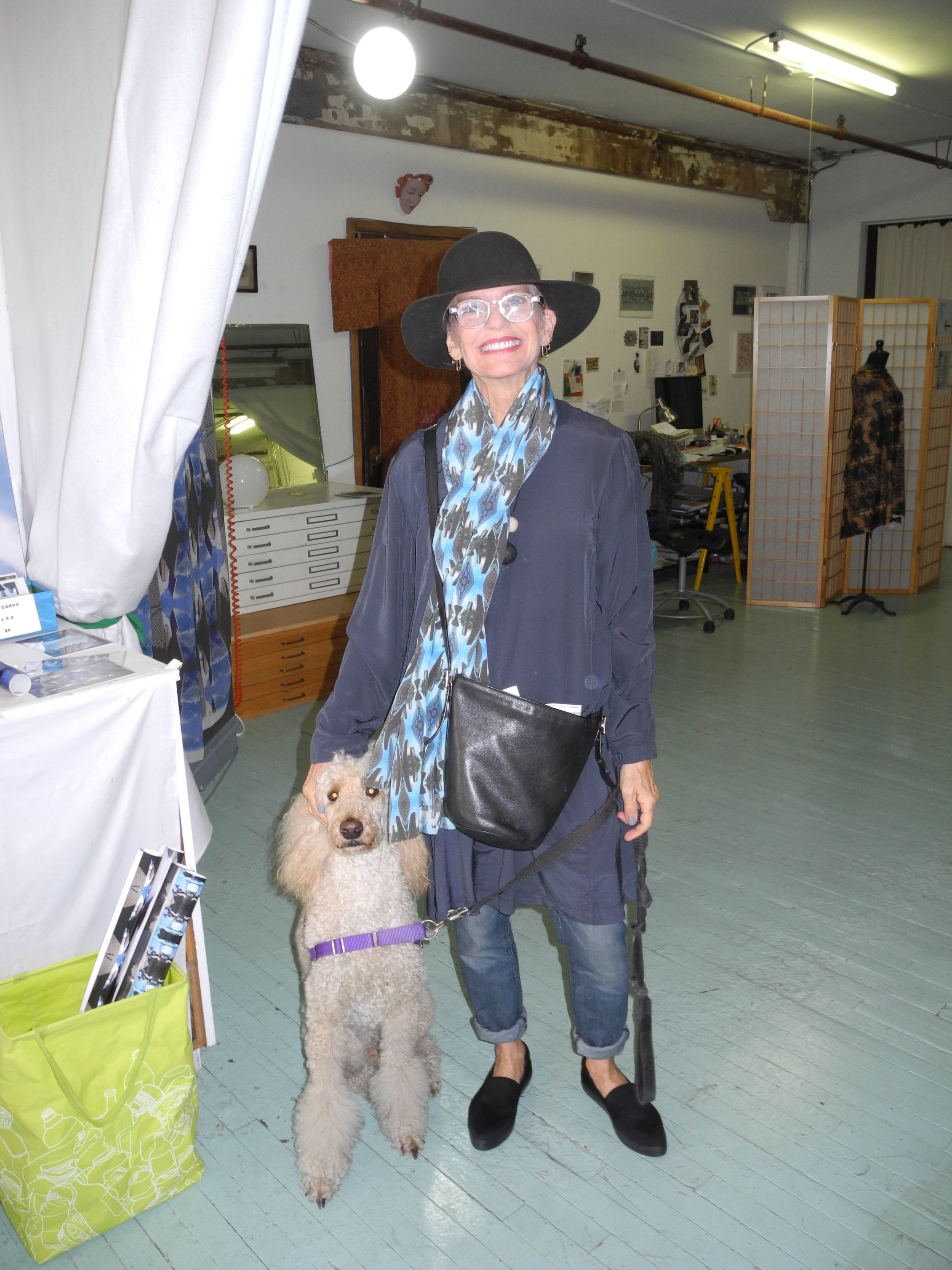 Christina wth her poodle_at_Janice_Everett_studio.jpg