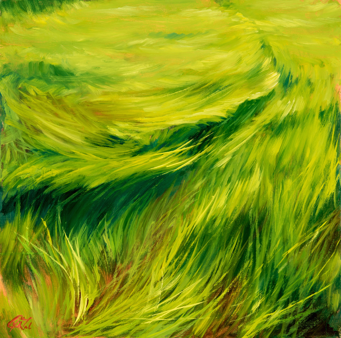 2. Dalrymple Native Vignette_ Paten Spartina (marsh grasses) II, 18″ x 18″, oil on canvas (2016) copy.jpg
