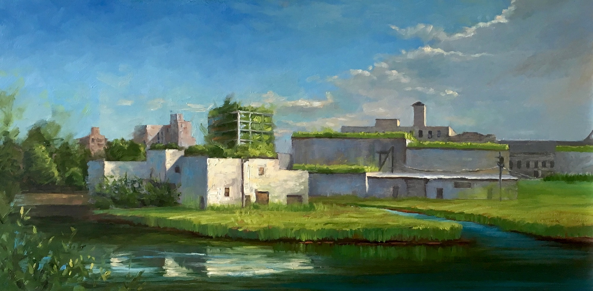 7.J.Dalrymple Urbanscape IV, 18x36 oil on canvas.JPG