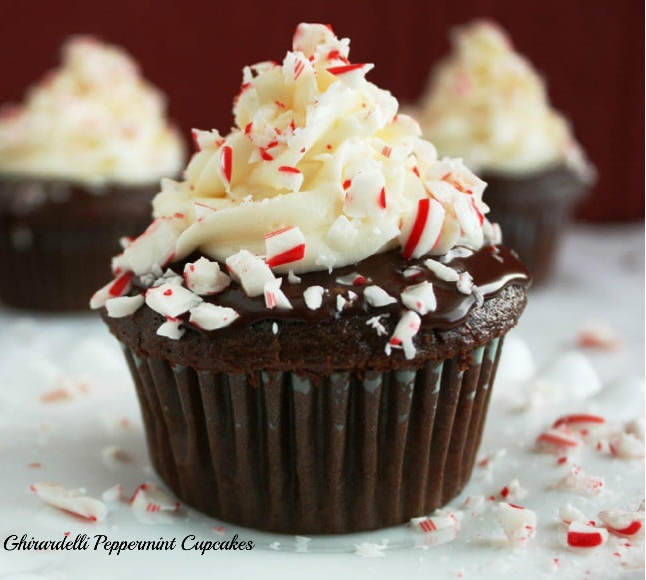 Ghirardelli Peppermint Cupcakes.jpeg