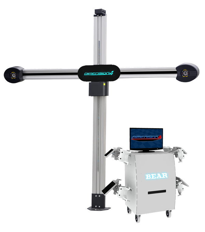 The  60-3155-10  - our mid range system that includes our rugged Mini Delorean aluminum cabinet complete with brilliant illuminated BEAR logo, printer slot and accessory shelves.  More info.