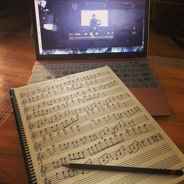 Finally transcribed one of my Drops.:) #music #originalmusic #violin #violinsolo #classicalmusic #composing #improvising