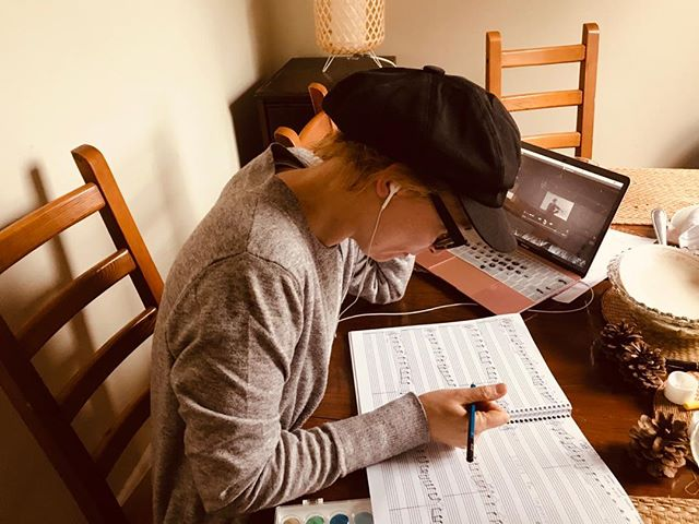 Starting to work on a record...Transcribing Droplets for Kathy Tagg, my endlessly creative collaborator with the heart of gold...