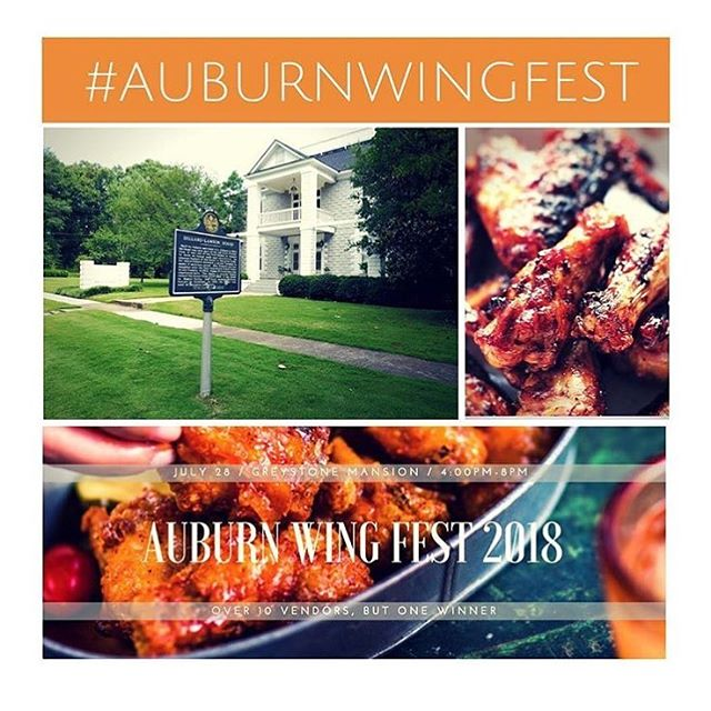 Join @thegreystonemansion for Auburn Wing Fest this Saturday! Tickets are still available using the link in their profile. 🍴🐔 #auburnwingfest #downtownauburn #wings #yummy