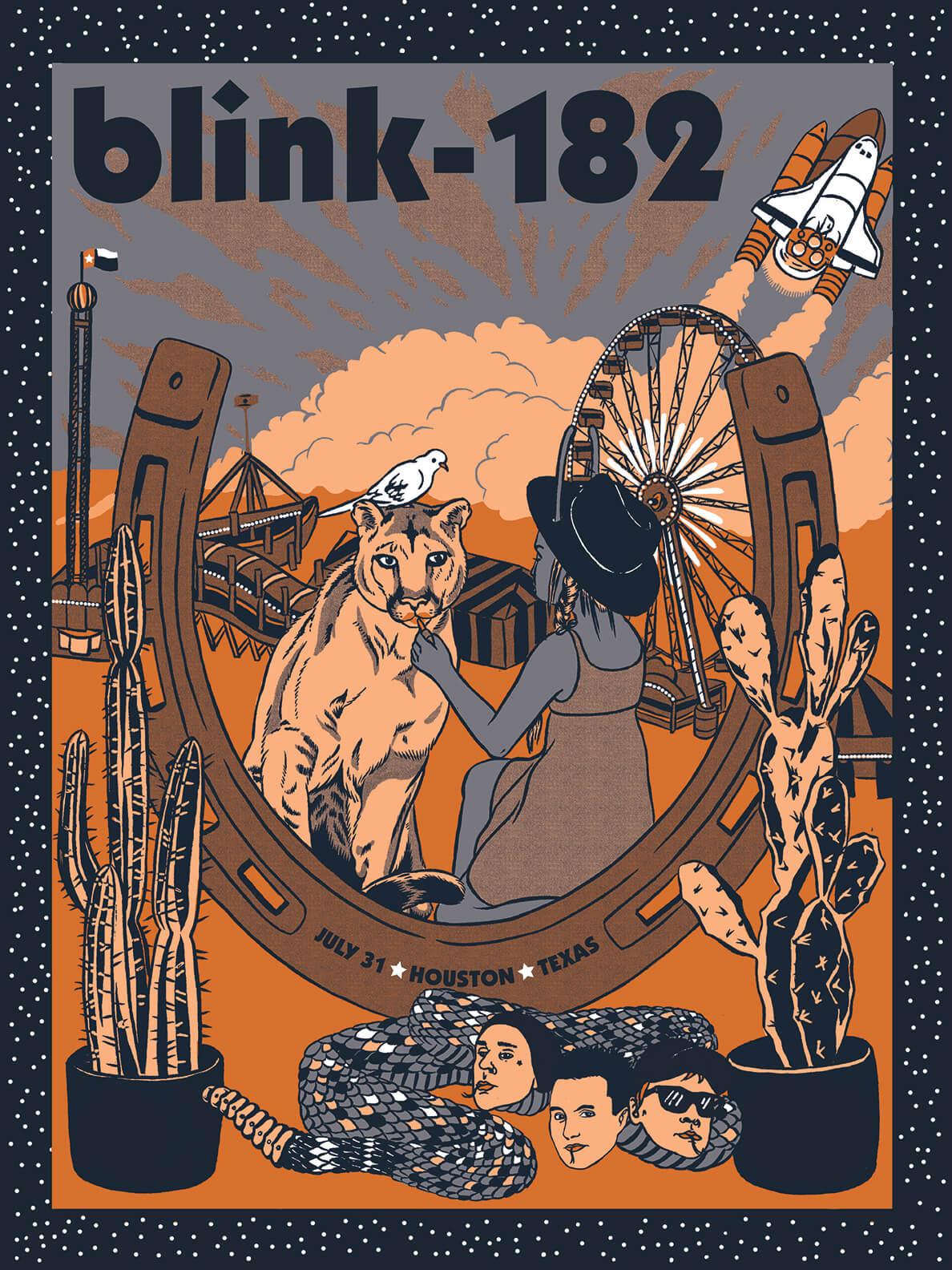 Blink 182 Poster- Houston, TX July 31