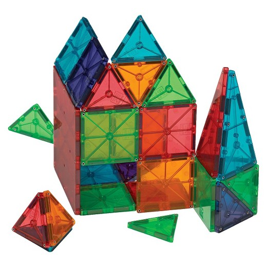 Magna Tiles - $59.99Designed to stimulate imagination, develop problem-solving and motor skills, and help teach shape recognition. Entertainment just got a lot more educational!