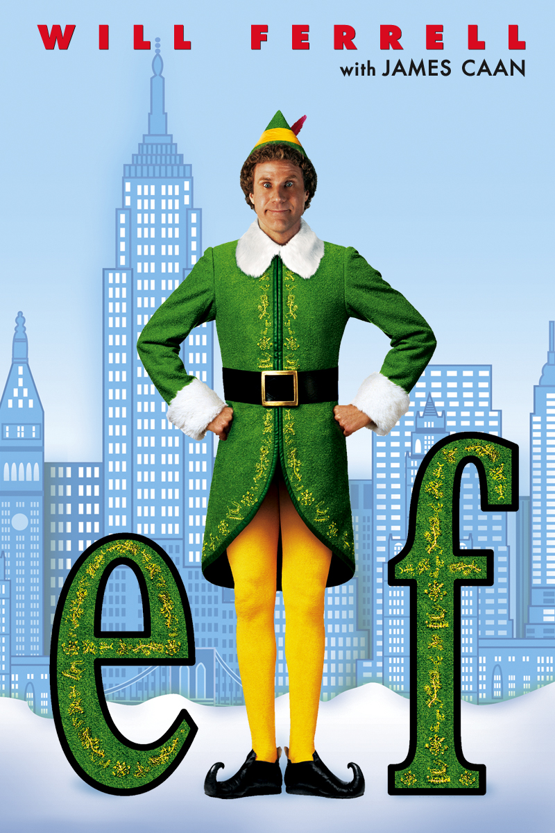 Elf - Buddy is everyone's favorite elf! Full of comedy, feel good moments, and Will Ferrell, Elf is a good choice to watch with hot chocolate in hand! Elf is available on iTunes, Youtube, Amazon Video, Google Play, and more!
