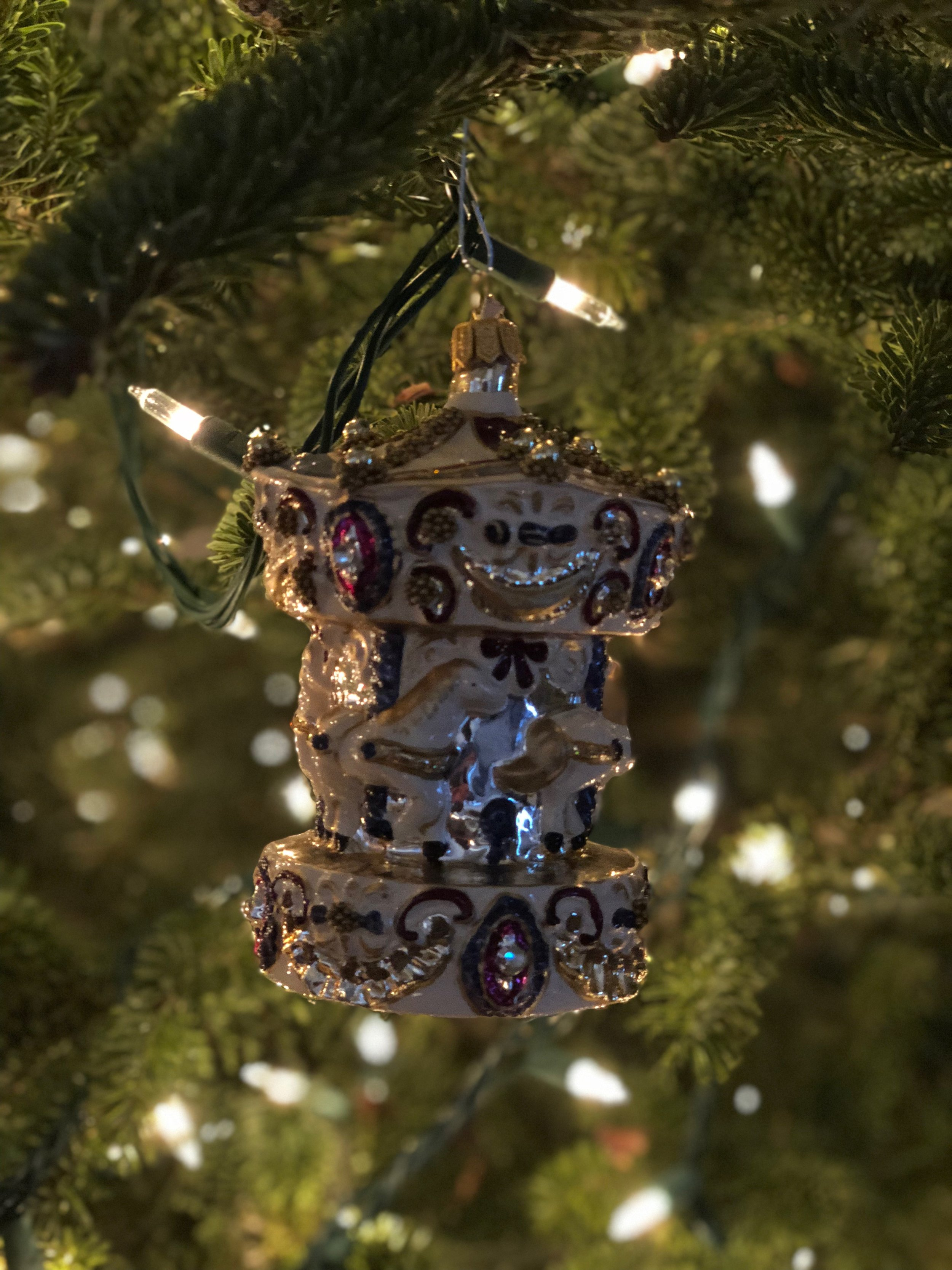 - Momentum's very own Annie Byrne loves Christmas! Her house is decorated in all of the seasons most festive things. Of the many ornaments on her tree, Annie's favorite is this glass carousel.