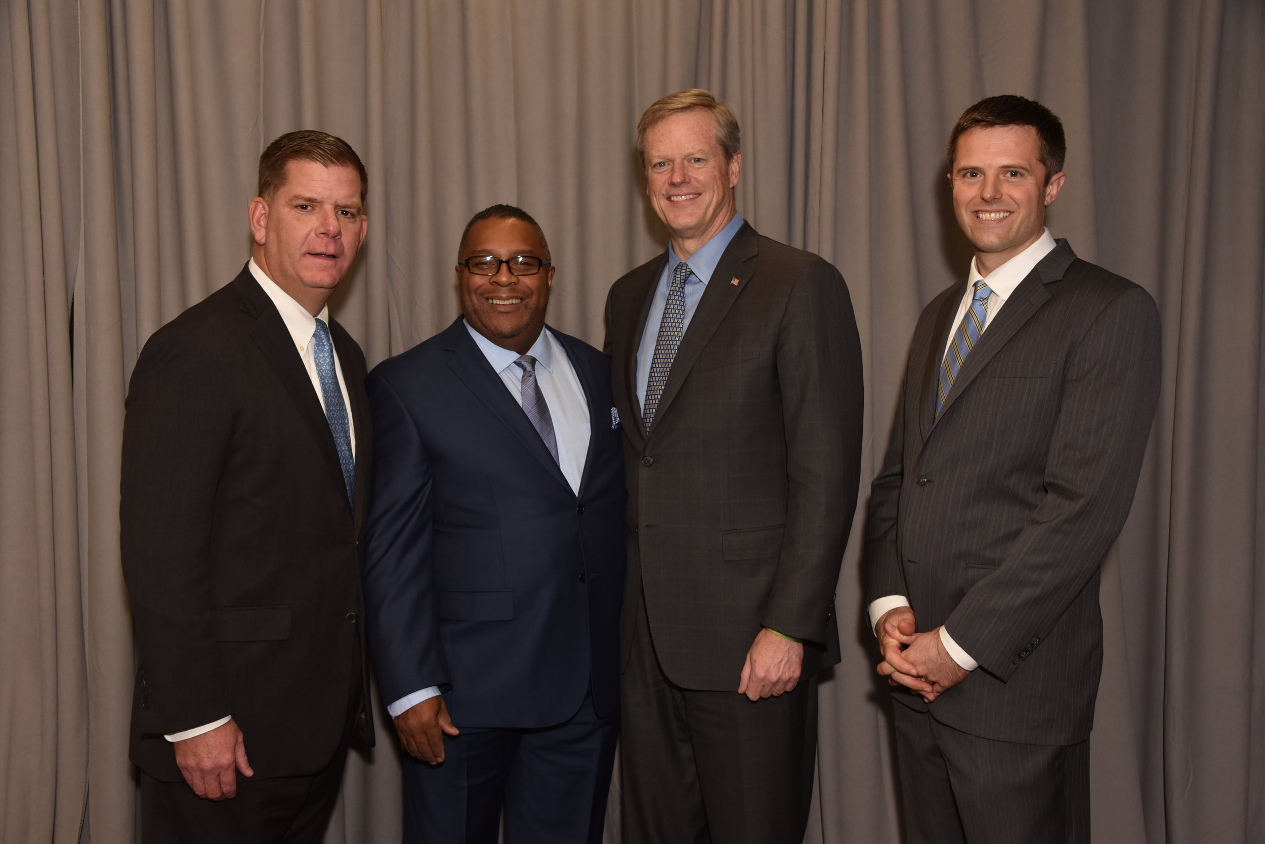 Our newly re-elected Governor Charlie Baker spoke of the state's support for many of our programs and introduced our inaugural Community Activist Award recipient: Robert Lewis, Jr. Robert spoke of this organization that raised him.