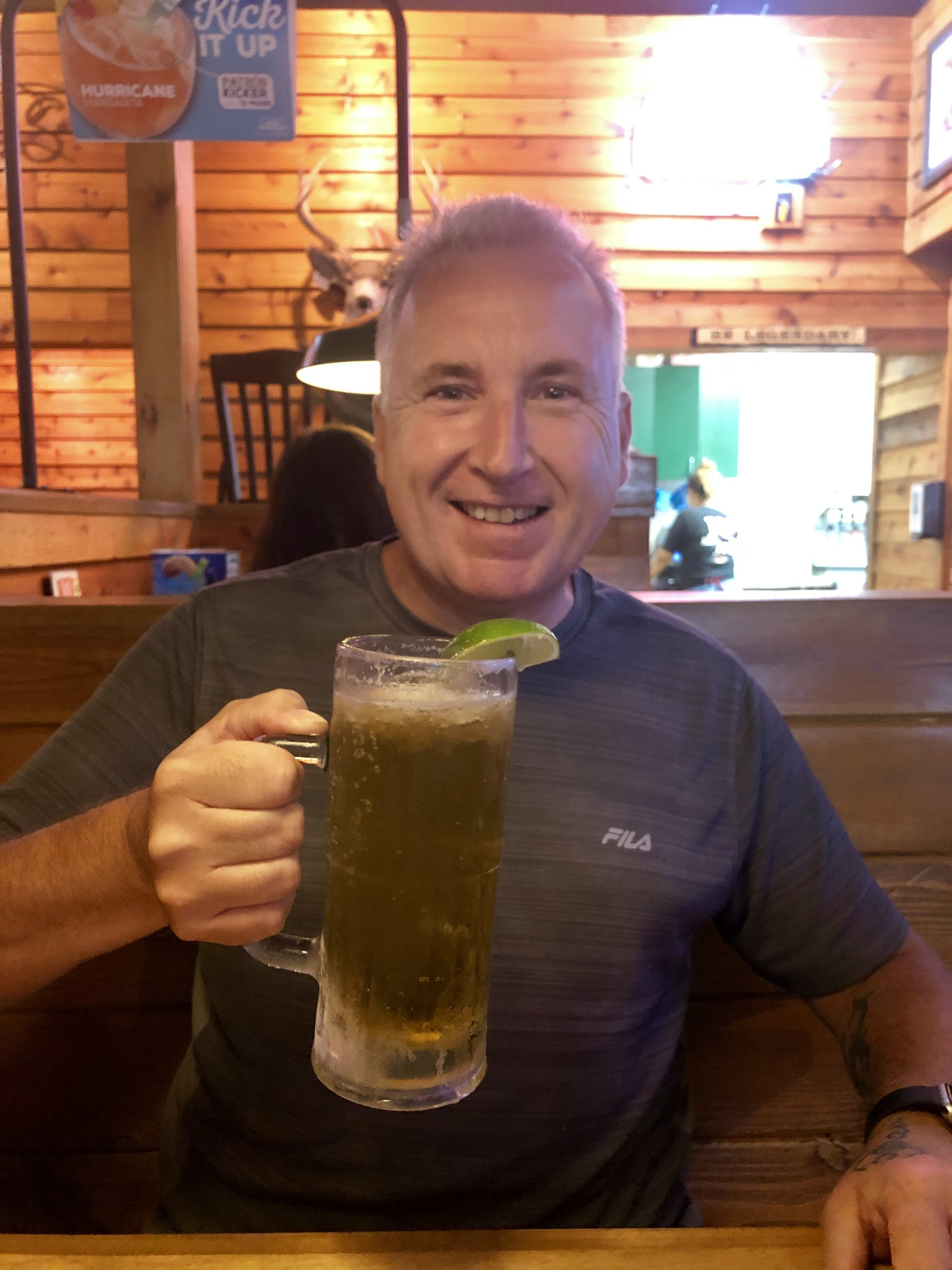 Mark and a big Texas Roadhouse beer!