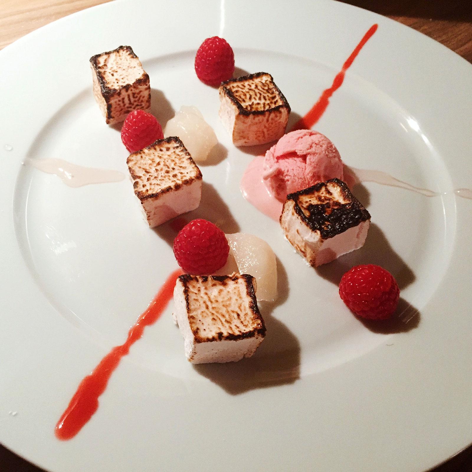 Ispahan inspired homemade dessert