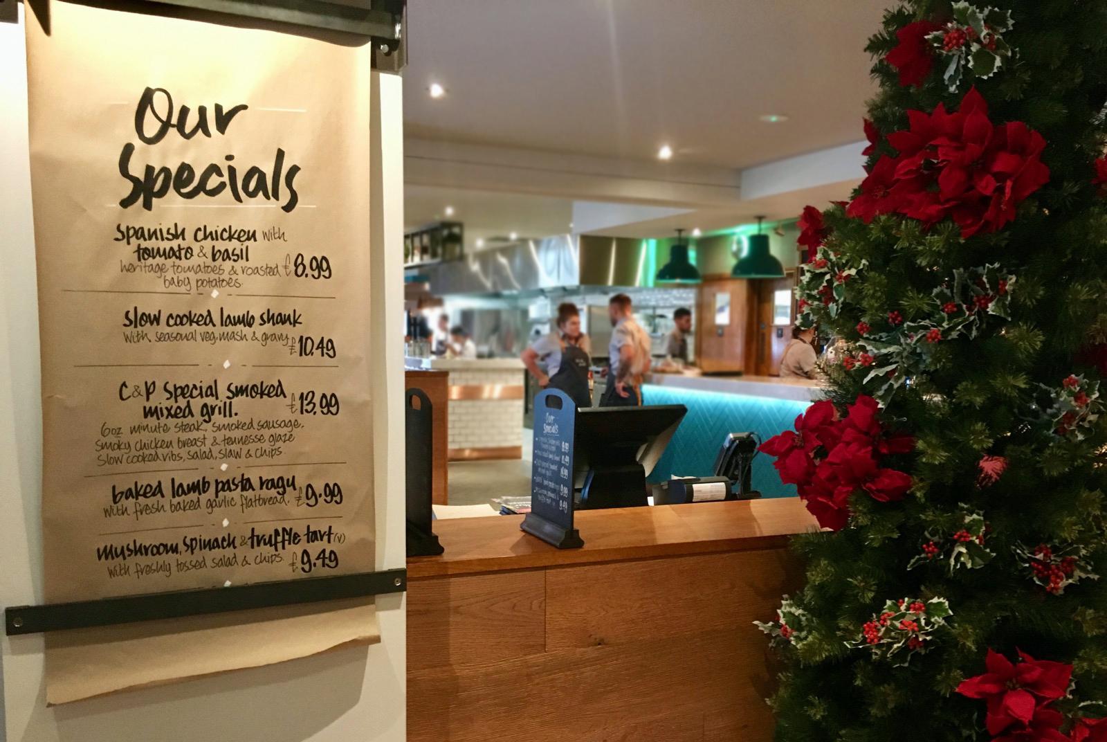 Oldbury Cookhouse and Pub Specials Menu