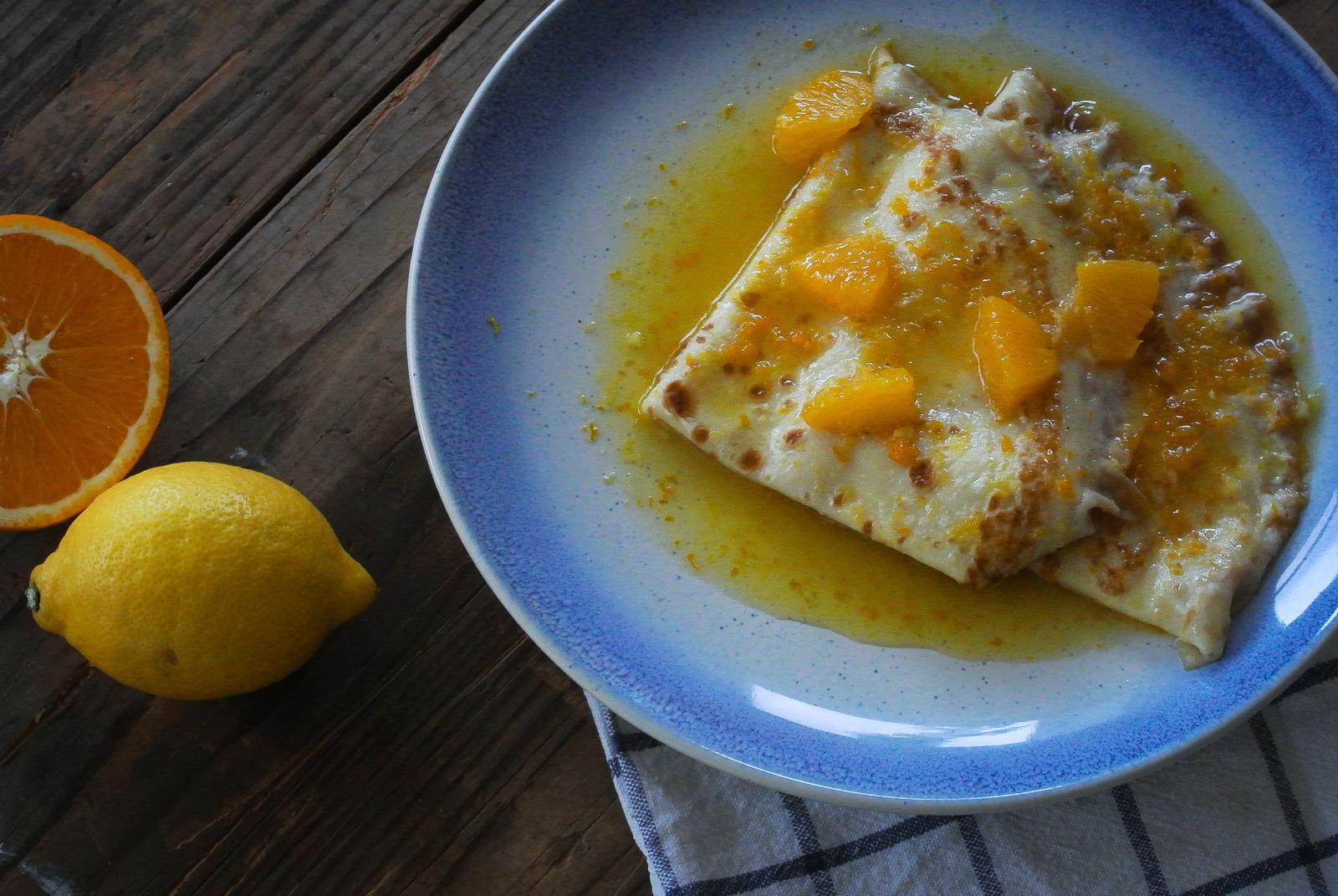 Crêpes Suzette - Pancakes in Orange Sauce
