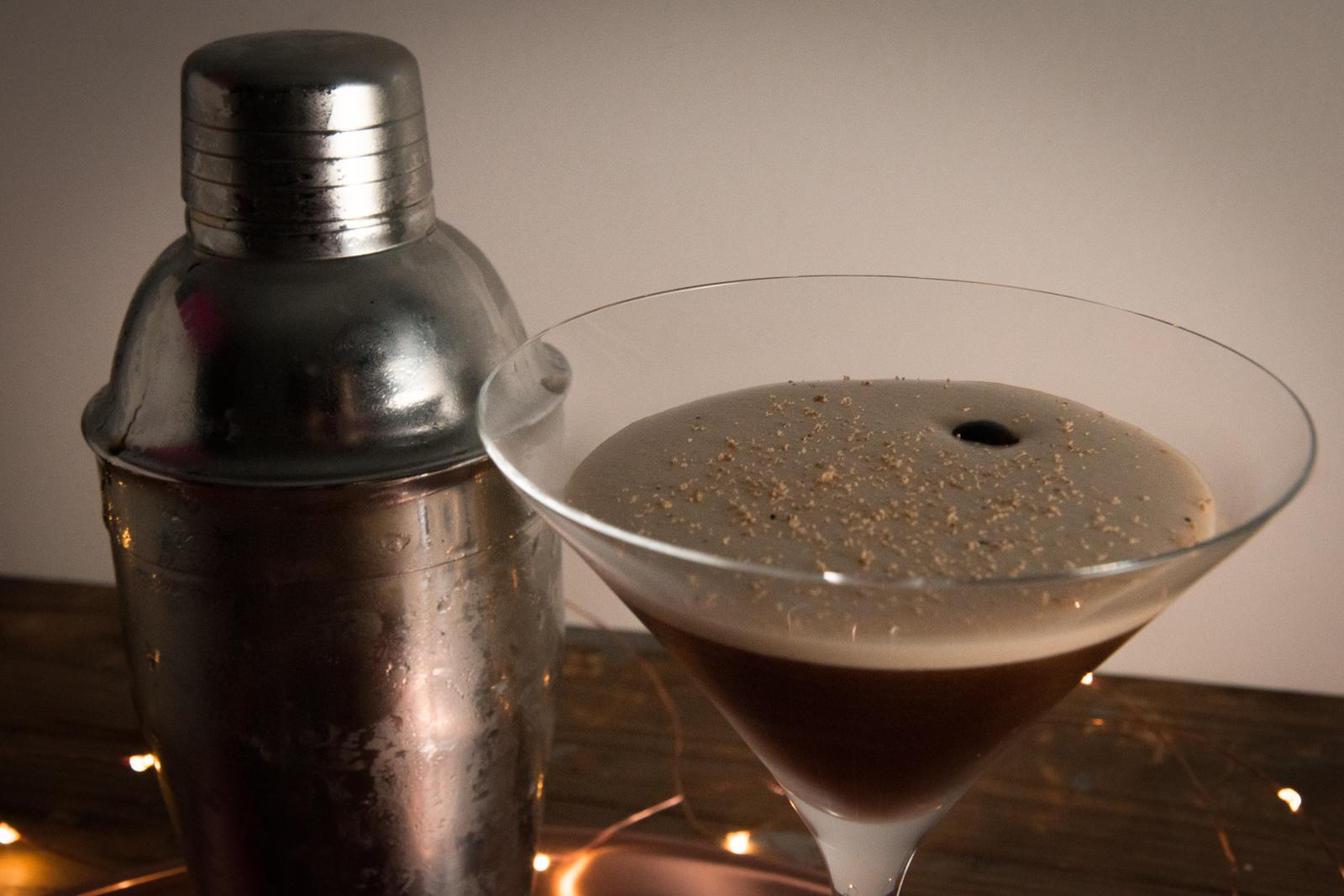 espresso martini and boston shaker