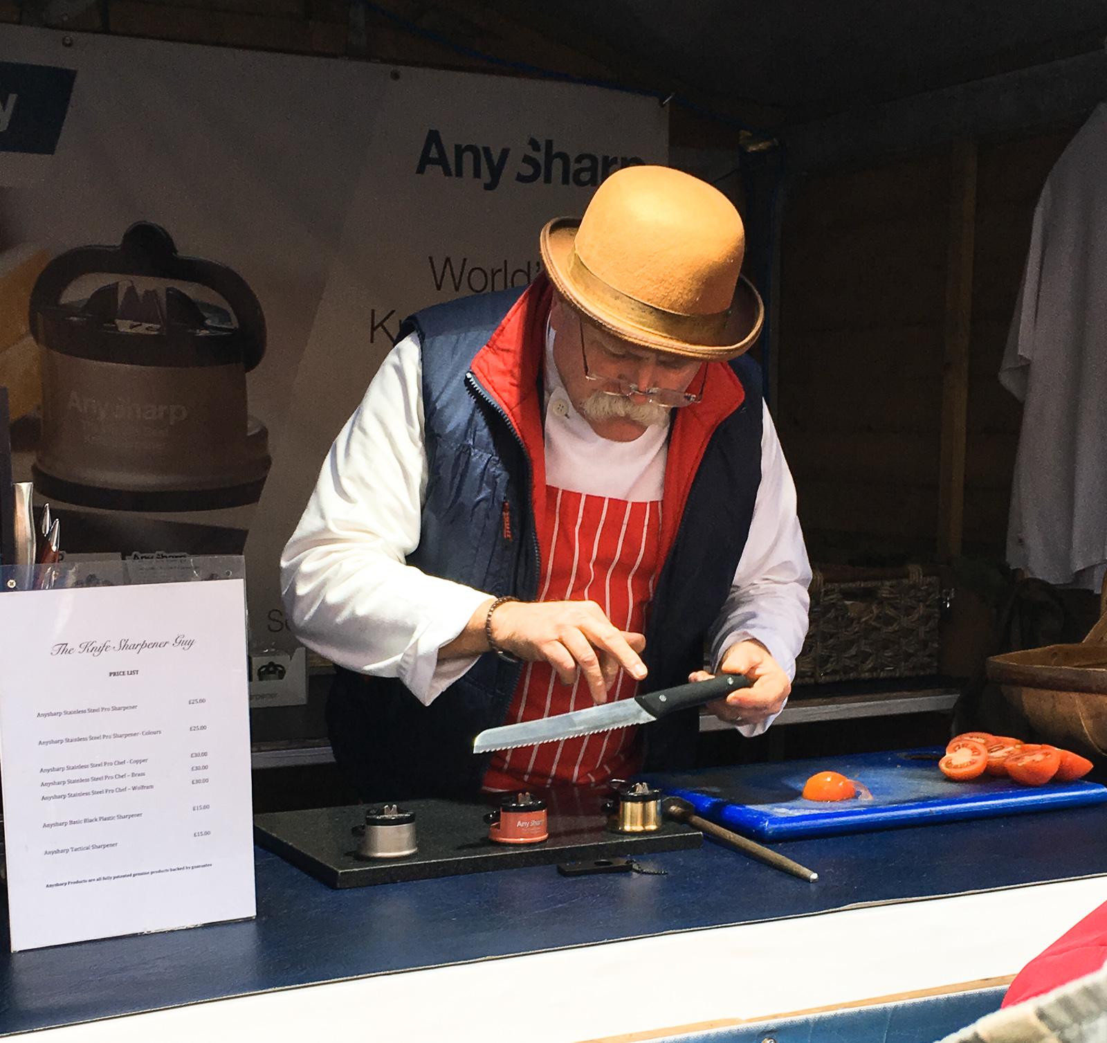 The Knife Sharpener Guy Rhubarb Pork Pies Wakefield Food and Drink Festival