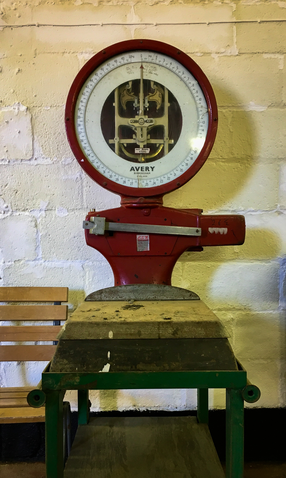 E.Oldroyd and Sons Ashfield Farm Carlton - Vintage Produce Scales