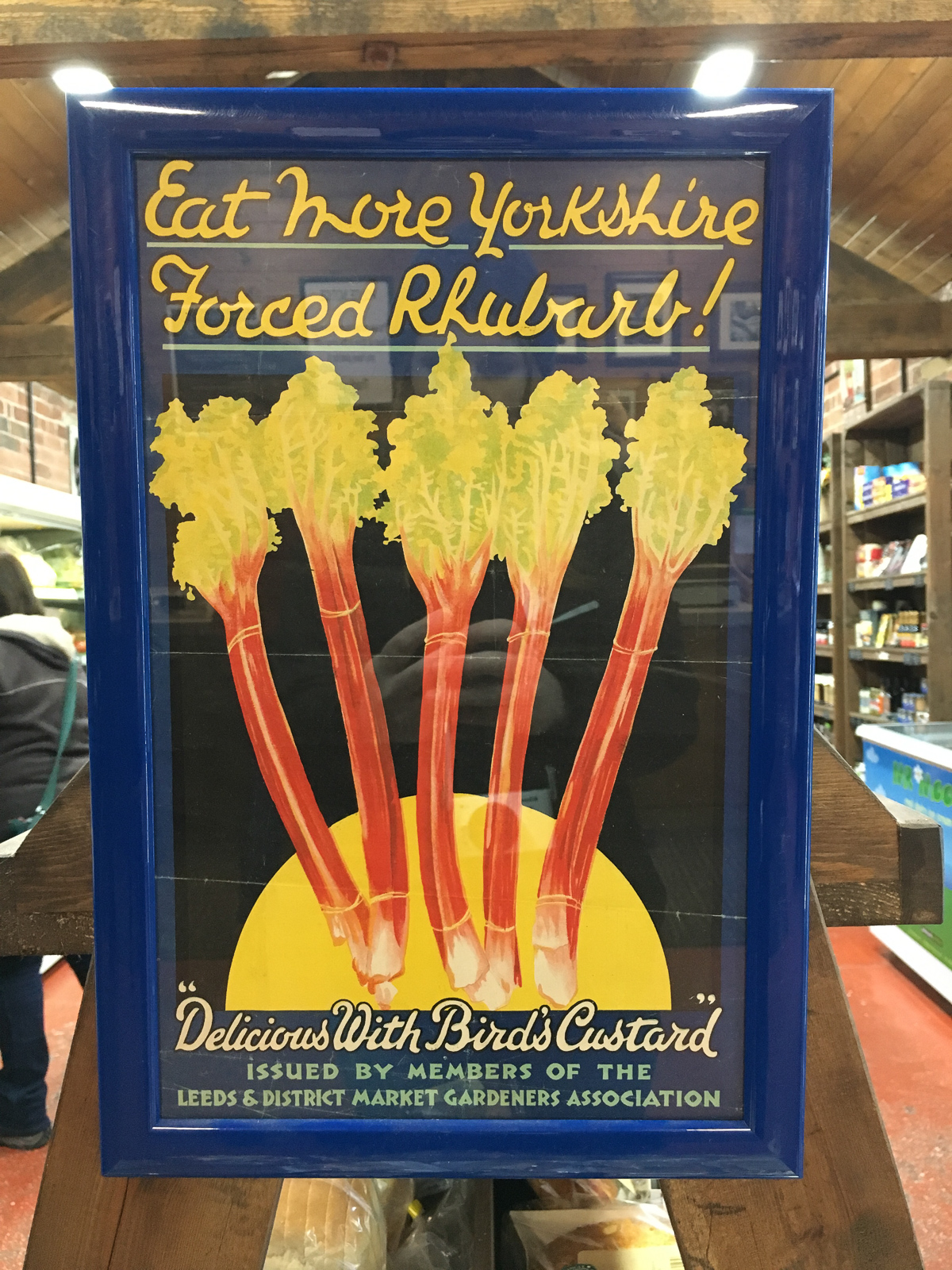 Vintage 'Eat More Yorkshire Forced Rhubarb' Sign