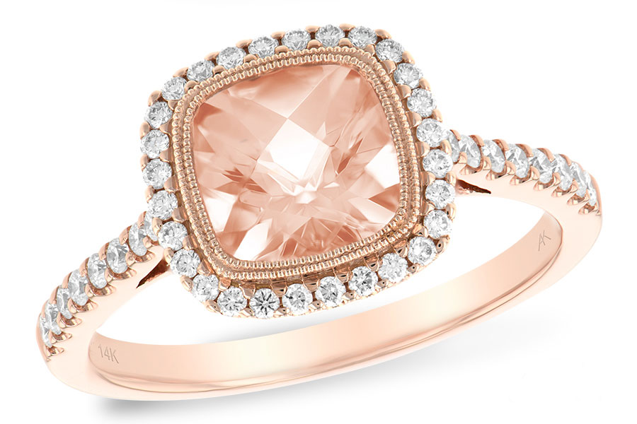 D5532  -  1.34 ct Morganite Set In 14K Rose Gold.    List Price: $2,520      Our Price: $1,999