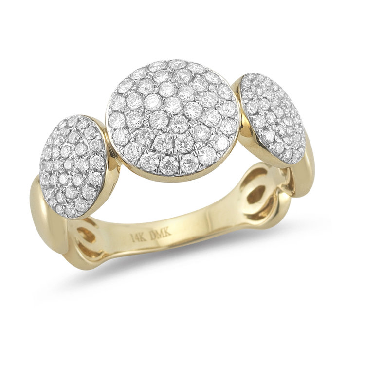 ER01270  -  0.88 ct. 14K Set In Yellow Gold.    List Price: $4,320      Our Price: $3,456