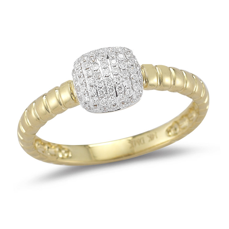R12577  -  0.19 ct, 14K Set In Yellow Gold.    List Price: $1,128      Our Price: $899