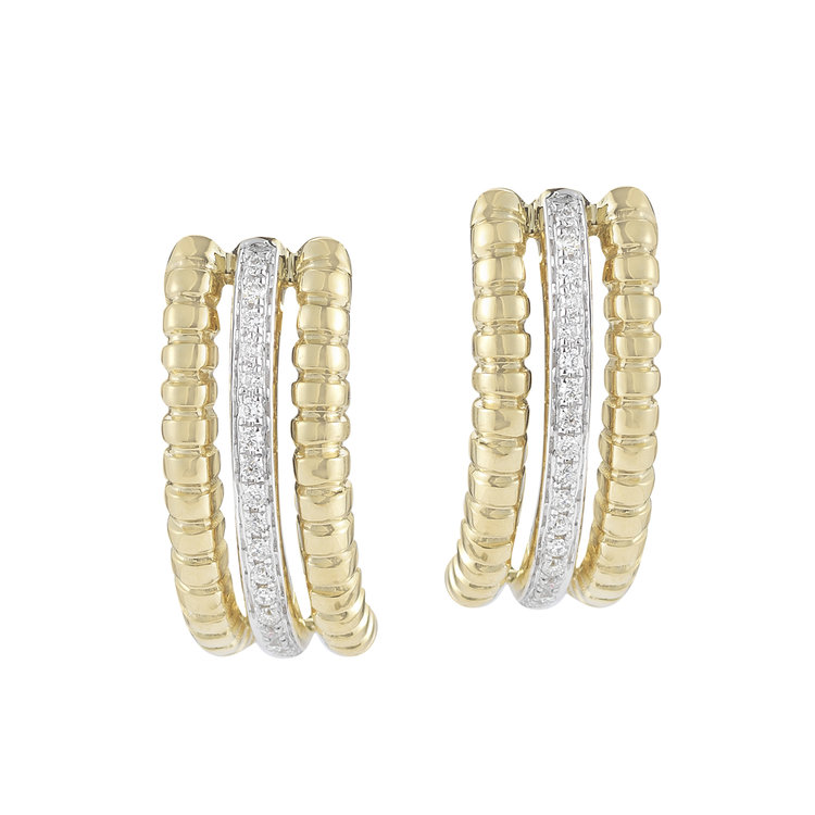 E12472  - 0.15 ct Set In 14K Yellow Gold Earrings.  List Price: $1,311    Our Price: $1,048