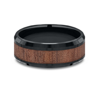 CF58489BKCC  - 8 mm Black Cobalt & Wood Grain Band.  List Price: $408    Our Price: $272