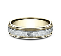 CF156308  - 6 mm 14K Yellow & White Gold Band.  List Price: $1,044    Our Price: $696