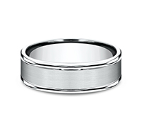 ***BEST SELLER***    RECF7702S  - 7 mm 14K White Gold Band.  List Price: $1,176    Our Price: $784