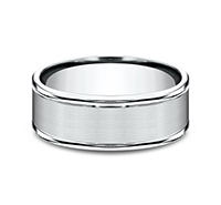RECF7802S  - 8 mm 14K White Gold Band.  List Price: $1,320    Our Price: $880