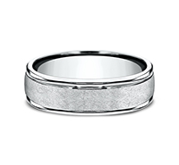 RECF86585  - 6.5 mm 14K White Gold Band.  List Price: $1,173    Our Price: $782