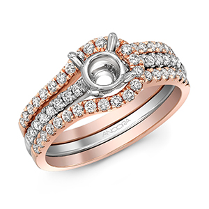 BNWS001  - 0.55 ct Set In 14K White & Rose Gold.  List Price: $2,397    Our Price: $1,917