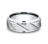 CF68319W  - 8 mm 14K White Gold Band.    List Price: $1,347      Our Price: $899