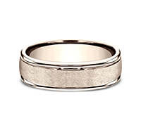 RECF86585  - 6.5 mm 14K Rose Gold Band.    List Price: $1,248      Our Price: $832