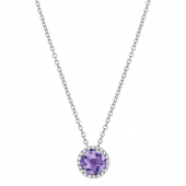 February Birthstone Necklace.    List Price: $130      Our Price: $104