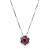 January Birthstone Necklace.    List Price: $130      Our Price: $104