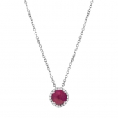 July Birthstone Necklace.    List Price: $130      Our Price: $104