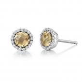 November Birthstone Stud Earrings.  List Price: $135    Our Price: $108