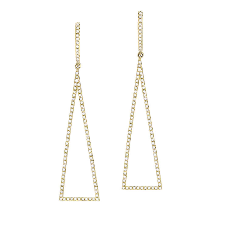 E10959  - 0.54 ct Set In 14K Yellow Gold Earrings.    List Price: $1,730      Our Price: $1,384