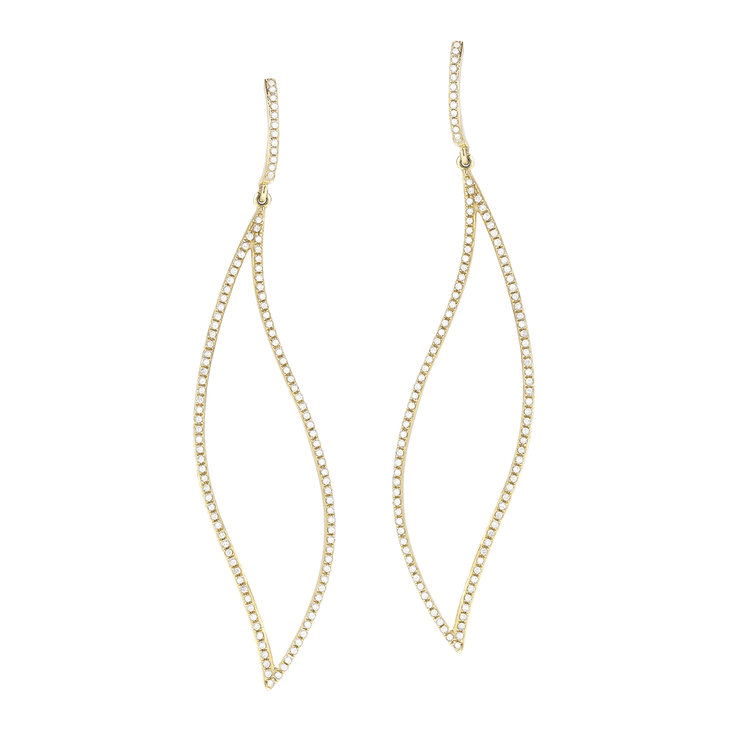 E11123  - 0.66 ct Set In 14K Yellow Gold Earrings.    List Price: $2,160      Our Price: $1,728