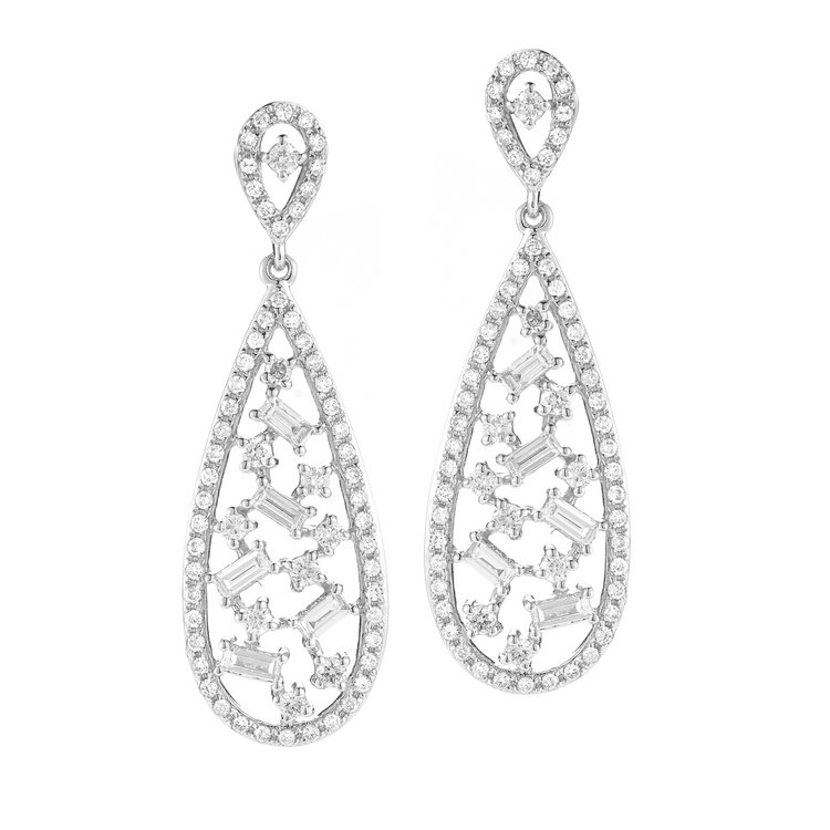 E15456  - 0.83 ct Set In 14K White Gold Earrings.    List Price: $3,074      Our Price: $2,459