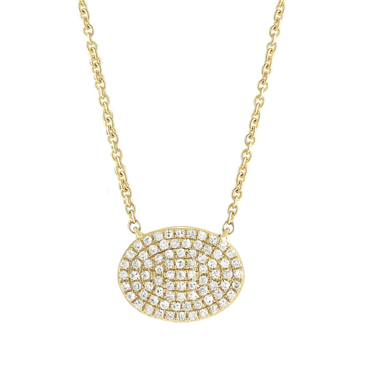 N16637  - 0.24 ct Set In A 14K Yellow Gold Necklace.      List Price: $1,050       Our Price: $840