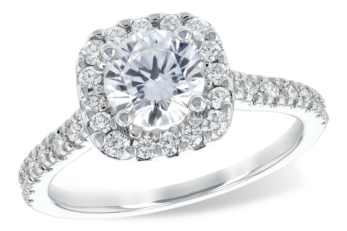 L7486  - 0.46 ct Set In 14K White Gold.    List Price: $2,376      Our Price: $1,900