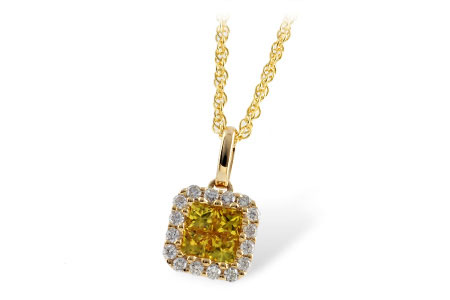 N7650  - 0.50 ct Yellow Sapphire Set In A 14K Yellow Gold Pendant.    List Price: $1,749      Our Price: $1,399
