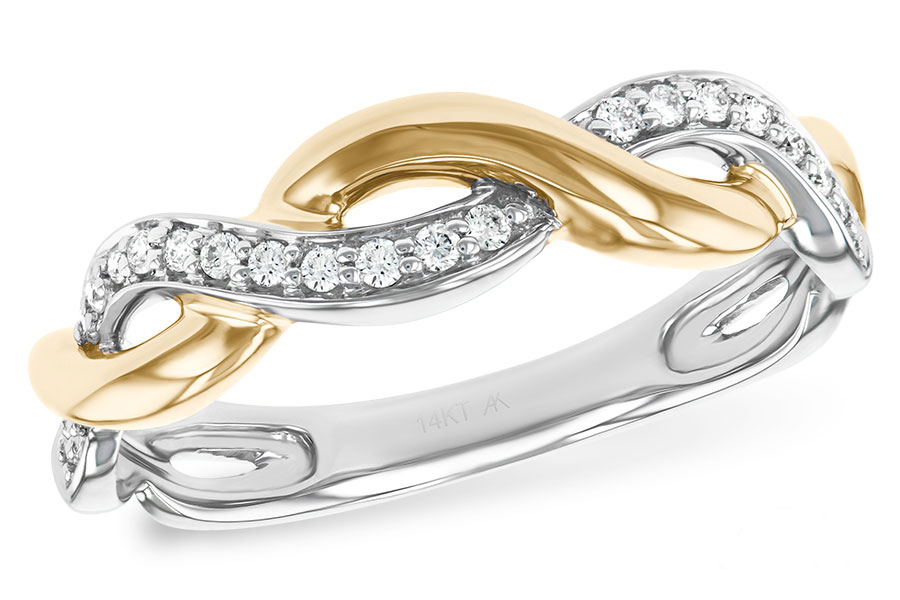 W1917  - 0.10 ct Set In A 14K White& Yellow Gold Band.    List Price: $993      Our Price: $794